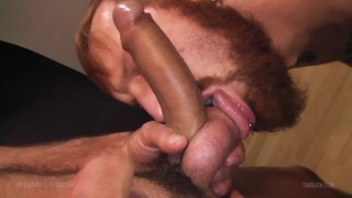 Pete Summers doesn't even choke on this monster cock