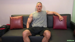muscle hunk Matt in his first video