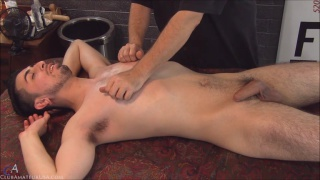 Adrian gets his nipples play with during handjob