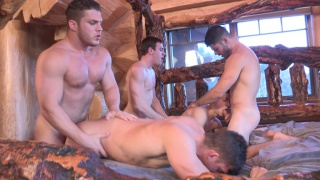 Winter Getaway Day 1 - the 5 guy orgy