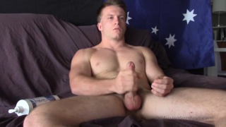 Surf-Lifesaver Jack jacks his dick