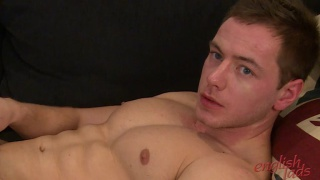 Muscular Straight Farmer Boy Max jacks his uncut ccok