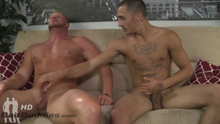 Straight hunk Josh Peters serviced by Rico Romero