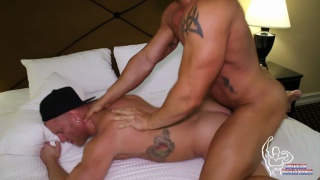 hung muscle top fucks his blond lover