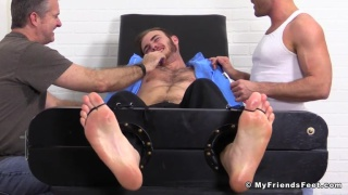 tickling christian wilde's armpits and huge feet