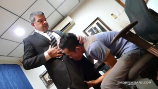 asian office worker gets fucked by the boss