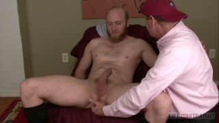 bearded exec needs his morning wood relieved
