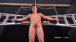 Strapping Jock jordan Roped and Jerked Off