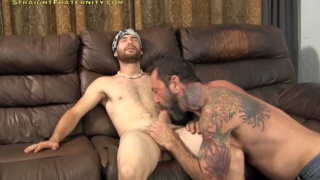 bearded dude Seamus gets blowjob