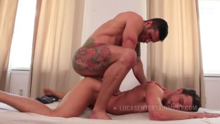 Damon Heart Takes Letterio Amadeo's huge dick