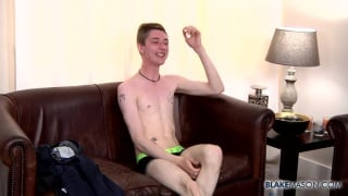 blond brit koda fingers his hole while wanking