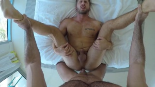 Wet Hard Cock with Billy Santoro and Wesley Woods