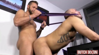 Frank Valencia slam fucks paolo's juicy hole