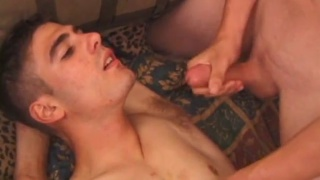 Aaron Towley plays with his first guy