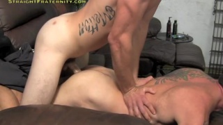TJ gets his huge cock sucked then pounds ass
