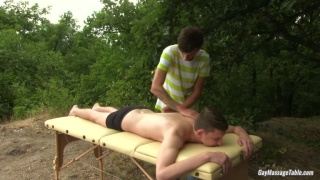 masseur and client blowing and fucking each other