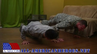 Army recruits get off together