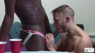 Interracial Jock Fuck with Drew Kingston and Brent Taylor