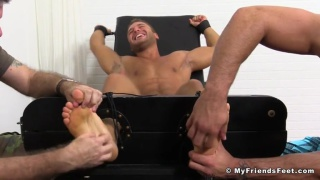 Hunky Tyrell Tied Up and Tickle Tormented