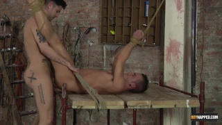 mikey taylor finds jack green tied up and waiting
