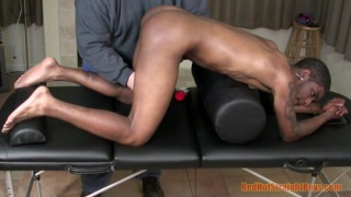 black stud john gets his ass played with