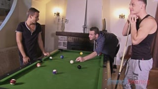 Six balls on the pool table