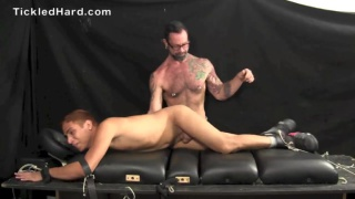 Caesar Bellacotti gets size 10 feet tickled