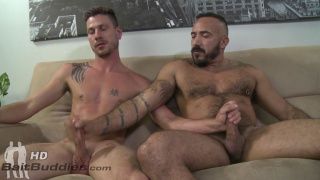 Awesomest cumshot ever with Keaton Keller and Alessio Romero