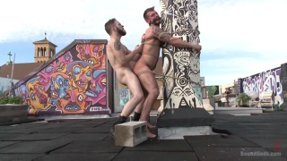 Wolf Hudson ties up and uses Chris Harder