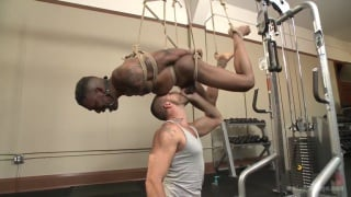 big-cocked Aaron Reese edged in the gym