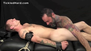 tattooed daddy tickles straight guy