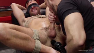 shoplifter Alex Mason gets tied up and edged