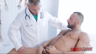 ALBERTO ESPOSITO gets check-up from doctor SANTI NOGUERA