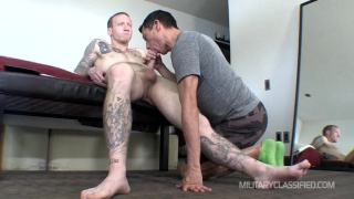 inked Max gets sucked off by gay guy