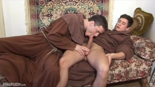 young monks suck dick and fuck