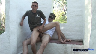 military twink rides his sergeant's dick