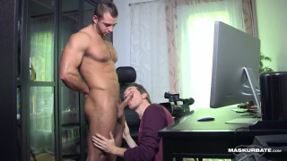 Office Suck 5 with sexy hunk JP