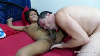 daddy and his asian boy spend rainy day fucking