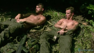 Recruit Wanking with Logan Moore and Nathan Hope