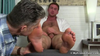 hung stud Connor maguire gets his feet worshipped