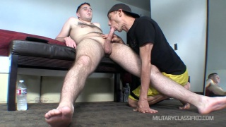 straight guy Buck gets a blowjob