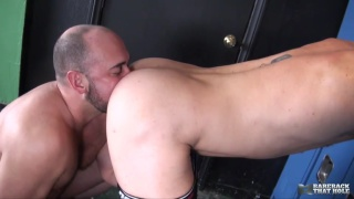 thick hung daddy bare fucks bottom's meaty ass
