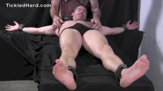 Mitch gets his size 10 feet tickled