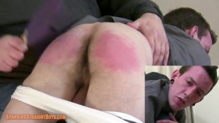 evan goes over daddy's knee for his first spanking