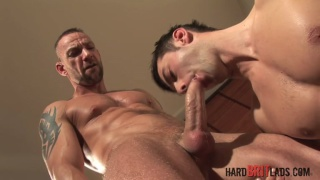 dominant daddy fucks handsome muscle lad
