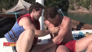 lovers fucking on a boat