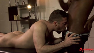 Risky Receptionist with JP Richards and scott hunter