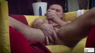 Muscled Jock jacob woods Jerks off