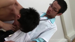 leo takes his doctor's big raw cock