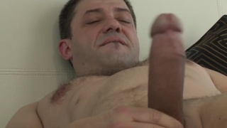 RODOLFO plays with his BIG COCK in bedroom JO